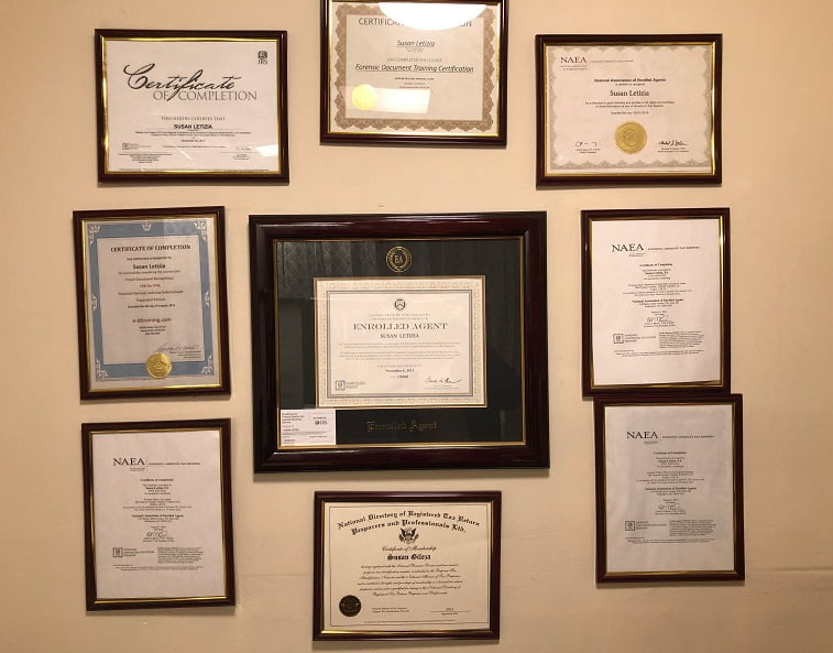 Tax certificates of SCL Tax Services