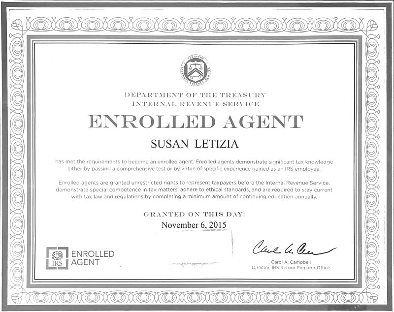 certified enrolled agent