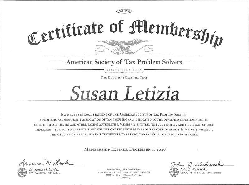 member of tax problem solvers